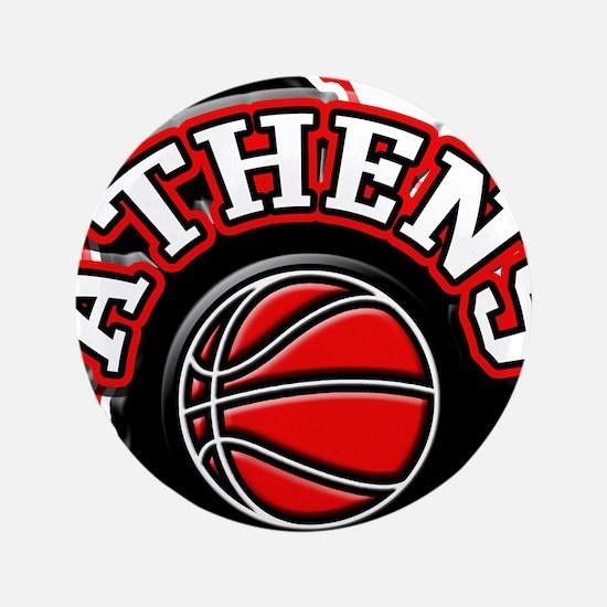 """Athens Basketball 3.5"""" Button"""