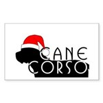 Cane Corso Holiday Rectangle Sticker