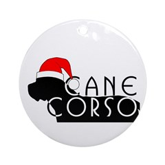 Cane Corso Holiday Ornament (Round)