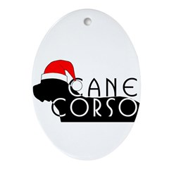 Cane Corso Holiday Oval Ornament