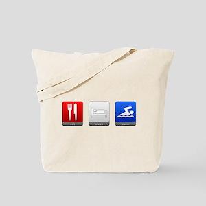 Eat, Sleep, Swim Tote Bag