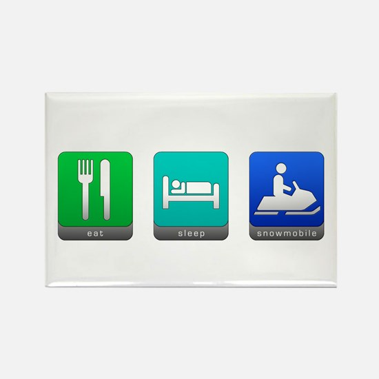 Eat, Sleep, Snowmobile Rectangle Magnet