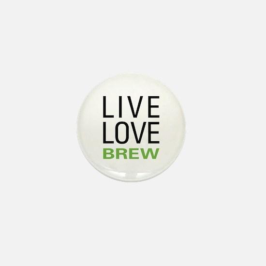 Live Love Brew Mini Button