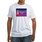 L.a .Ninja Santa Christmas Fitted T-Shirt