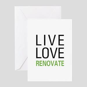 Live Love Renovate Greeting Card