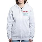 OBAMA 12 Women's Zip Hoodie