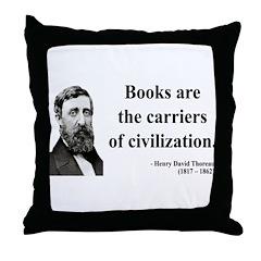 Henry David Thoreau 35 Throw Pillow