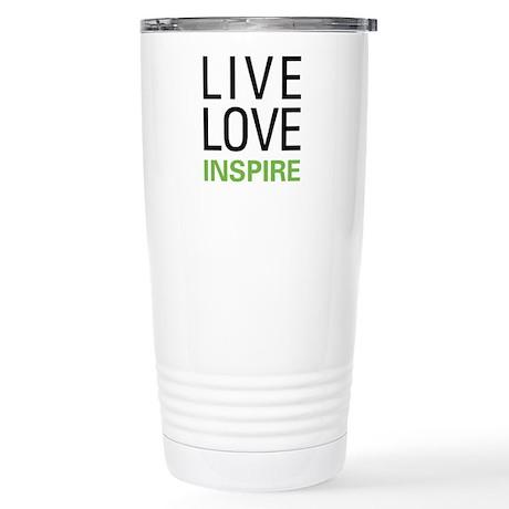 Live Love Inspire Stainless Steel Travel Mug