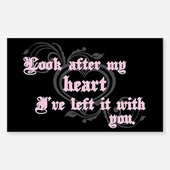 Edward Heart Twilight Rectangle Decal