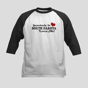 Somebody in South Dakota Loves me Kids Baseball Je