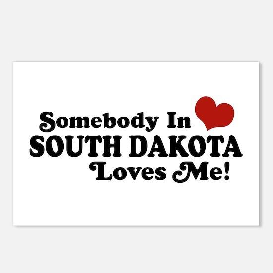 Somebody in South Dakota Loves me Postcards (Packa