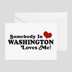 Somebody in Washington Loves me Greeting Cards (Pk