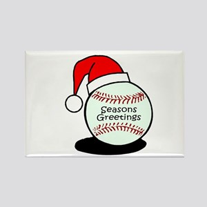 Baseball Greetings Rectangle Magnet