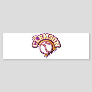 Clemson Baseball Bumper Sticker