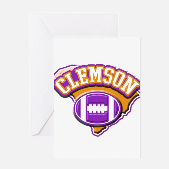 Clemson Football Greeting Card