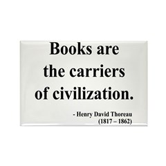 Henry David Thoreau 35 Rectangle Magnet (100 pack)