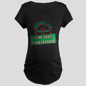 home ice holiday Maternity Dark T-Shirt