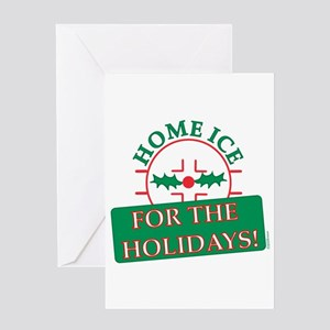 home ice holiday Greeting Card
