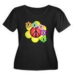 Super Peace Blossom Women's Plus Size Scoop Neck D