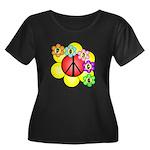 Super Peace Blossom Women's Plus Size Scoop Neck D