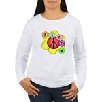 Super Peace Blossom Women's Long Sleeve T-Shirt
