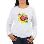 Super Peace Blossom Women's Long Sleeve T-Shirt