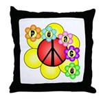 Super Peace Blossom Throw Pillow