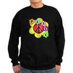 Super Peace Blossom Sweatshirt (dark)