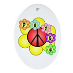Super Peace Blossom Oval Ornament