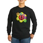 Super Peace Blossom Long Sleeve Dark T-Shirt