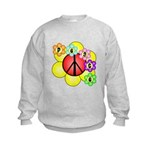 Super Peace Blossom Kids Sweatshirt