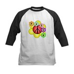 Super Peace Blossom Kids Baseball Jersey