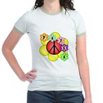 Super Peace Blossom Jr. Ringer T-Shirt