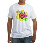 Super Peace Blossom Fitted T-Shirt