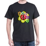 Super Peace Blossom Dark T-Shirt