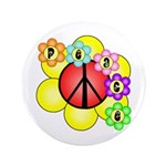 "Super Peace Blossom 3.5"" Button"