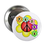 "Super Peace Blossom 2.25"" Button"