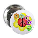 """Super Peace Blossom 2.25"""" Button"""