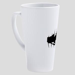 tear dark women 17 oz Latte Mug