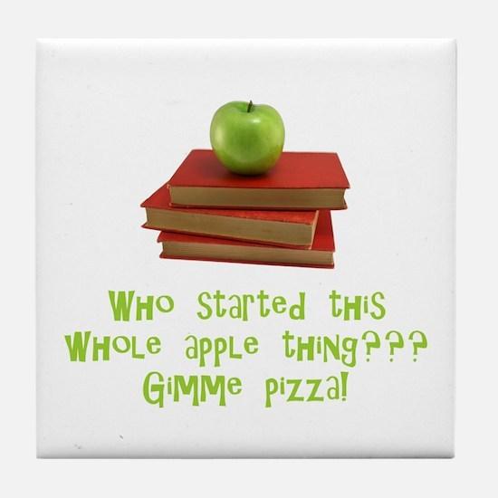 Teacher's Apple Tile Coaster