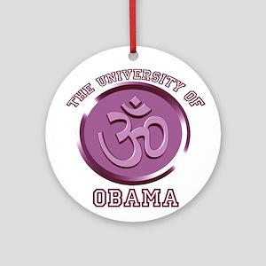 The University of Obama-Dept Ornament (Round)