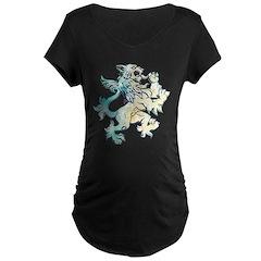 Gothic Lion Graphic Maternity Tee (Dark)