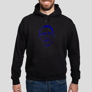 Obama Line Portrait Hoodie (dark)