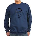 Obama Line Portrait Sweatshirt (dark)