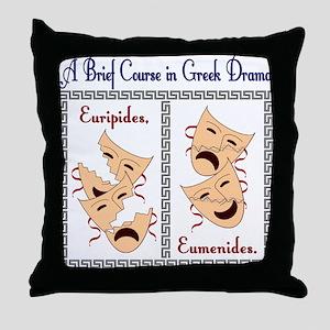 Euripides/Eumenides Throw Pillow