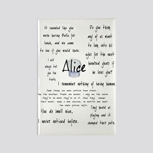 Alice Quotes Rectangle Magnet