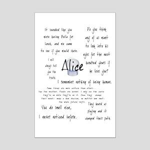 Alice Quotes Mini Poster Print