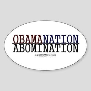 OBAMANATION Oval Sticker