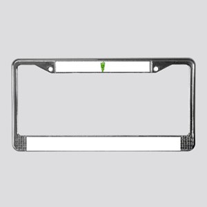 Green Swirls Fork Guy License Plate Frame