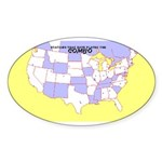 CCC Map Oval Sticker